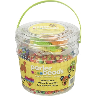 Perler Fun Fusion Fuse Bead Activity Bucket, Bead Mania