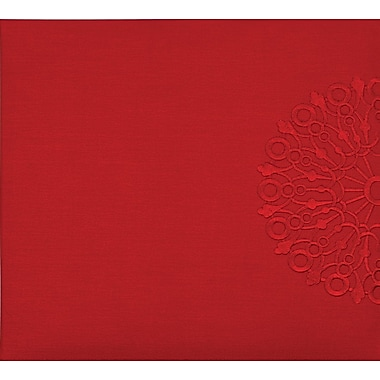 Grant Studios Embroidered Snapload Strap Album,  12in. x 12in., Ruby