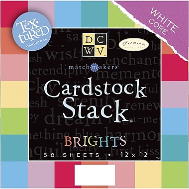 Diecuts With A View Textured Brights Cardstock Stack, 12in. x 12in.
