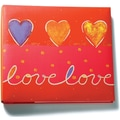Amanda Blu Print Postbound Album, 12in. x 12in., Love/Red