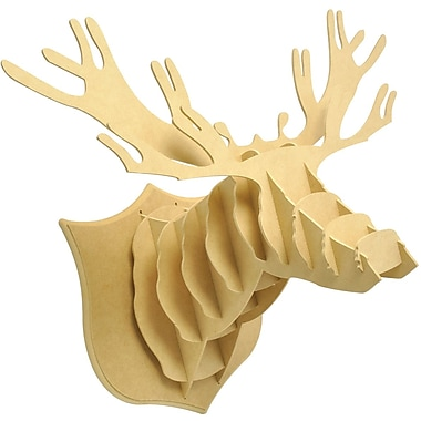 Kaisercraft Beyond The Page MDF Dimensional Deer Head, 22in. x 17.75in. x 14.5in.