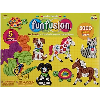 Perler Fun Fusion Fuse Bead Value Activity Kit, Pet Parade