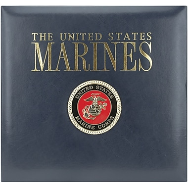 K&Company Marines Postbound Scrapbook 12in.X12in.