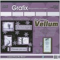 Grafix Vellum Value Pack, 12in. x 12in., Clear Assortment