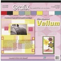 Grafix Vellum Value Pack, 12in. x 12in., Color Assortment