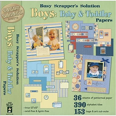 Hot Off The Press Paper Pizazz Papers & Accents-Boys-Baby & Toddler