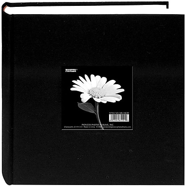 Pioneer Cloth Photo Album With Frame, 9in. x 9in., Deep Black