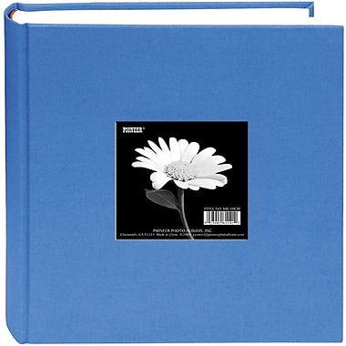 Pioneer Cloth Photo Album With Frame, 9in. x 9in., Sky Blue