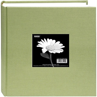 Pioneer Cloth Photo Album With Frame, 9in. x 9in., Sage Green