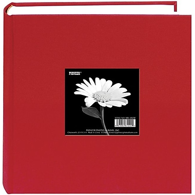 Pioneer Cloth Photo Album With Frame, 9in. x 9in., Apple Red