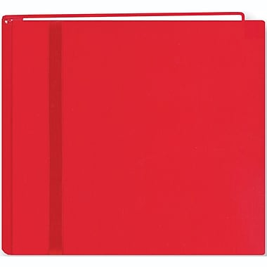 Pioneer Snapload Scrapbook Cloth With Ribbon, 8in. x 8in., Red