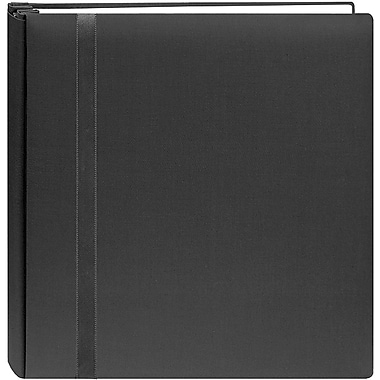 Pioneer Snapload Scrapbook Cloth With Ribbon,  12in. x 12in., Black