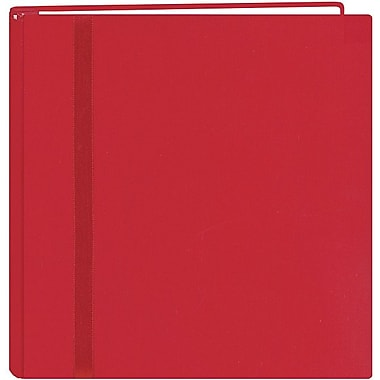 Pioneer Snapload Scrapbook Cloth With Ribbon,  12in. x 12in., Red