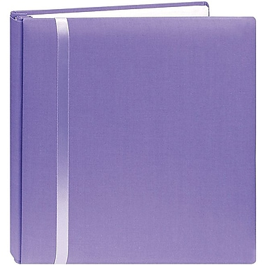 Pioneer Snapload Scrapbook Cloth With Ribbon,  12in. x 12in., Purple