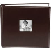 Making Memories Leather Postbound Album W/Window, 12 x 12, Chocolate