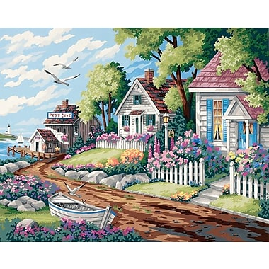 Dimensions Paint By Number Kit, 20in. x 16in., Cottages By The Sea