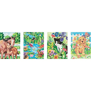 Dimensions Pencil Works Color By Number Kit, 9in. x 12in., 4/Pkg Animal Friends