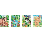 "Dimensions Pencil Works Color By Number Kit, 9"" x 12"", 4/Pkg Animal Friends"