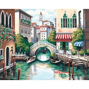 "Dimensions Paint By Number Craft Kit Painting, 20"" x 16"", Scenic Canal (91303)"