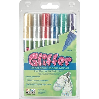 Uchida DecoFabric Markers, 3mm, Glitter