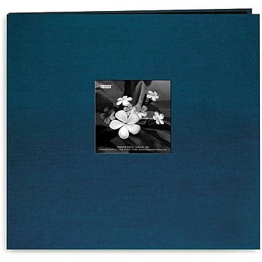 Pioneer Silk Postbound Album With Photo Window, 12in. x 12in., Lagoon