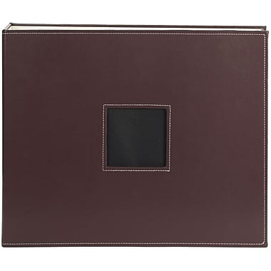 American Crafts Leather D-Ring Album, 12in. x 12in., Brown