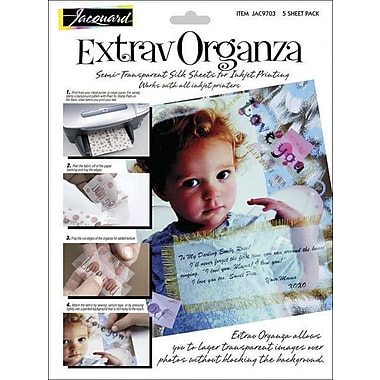 Jacquard Products Extrav Organza Silk, 8.5in. x 11in., 5/Pkg