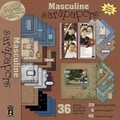 Hot Off The Press Paper Pizazz Papers & Accents-Masculine Sarapapers