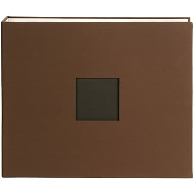 American Crafts Cloth D, Ring Album, 12in. x 12in., Chestnut