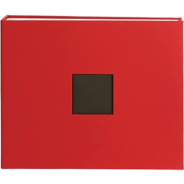 American Crafts Cloth D, Ring Album, 12in. x 12in., Cardinal