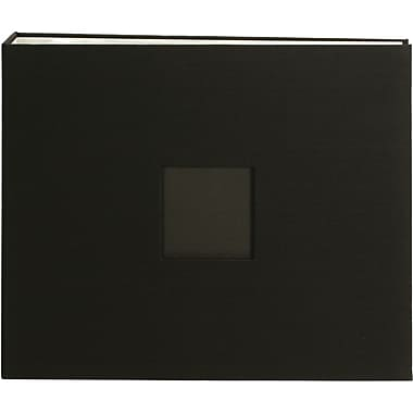 American Crafts Cloth D, Ring Album, 12in. x 12in., Black