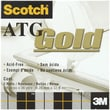 3M Scotch ATG Gold Transfer Tape, 2/Pkg, .25in. x 36 Yards