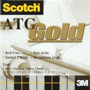 "3M  Scotch ATG Gold Transfer Tape, 1/Pkg, .5"" x 36 Yards"