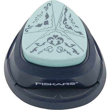 Fiskars 3-In-1 Triple Sized Embossing Corner Punch, Tunnel Of Love