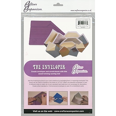 Crafter's Companion The Enveloper, Imperial Measurements