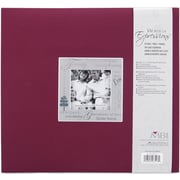 MBI Expressions Postbound Album, 12 x 12, Family - Burgundy