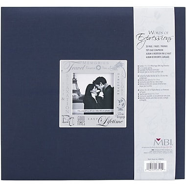 MBI Expressions Postbound Album, 12in. x 12in., Travel - Navy