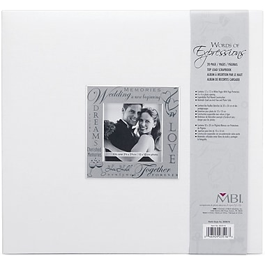 MBI Expressions Postbound Album, 12in. x 12in., Wedding - White