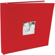 "MBI Fashion Fabric Postbound Album, 12"" x 12"", Red"