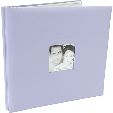 MBI Fashion Fabric Postbound Album, 12in. x 12in., Lilac