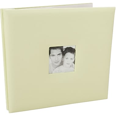 MBI Fashion Fabric Postbound Album, 12in. x 12in., Pastel Green