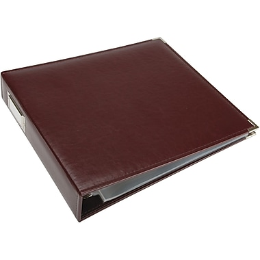 We R Memory Keepers We R Faux Leather 3-Ring Binder, 12in. x 12in., Burgundy