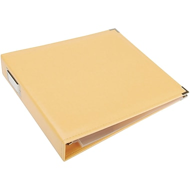 We R Memory Keepers We R Faux Leather 3-Ring Binder, 12in. x 12in., Buttercup