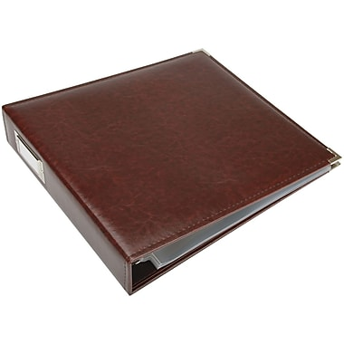 We R Memory Keepers We R Faux Leather 3-Ring Binder, 12in. x 12in., Cinnamon