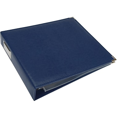 We R Memory Keepers We R Faux Leather 3-Ring Binder, 12in. x 12in., Cobalt