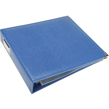 We R Memory Keepers We R Faux Leather 3-Ring Binder, 12in. x 12in., Country Blue