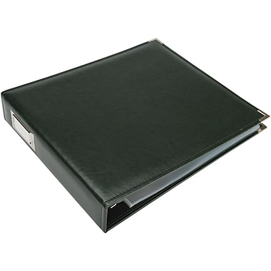 We R Memory Keepers We R Faux Leather 3-Ring Binder, 12in. x 12in., Forest Green