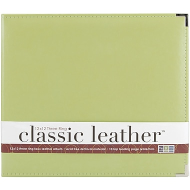 We R Memory Keepers We R Faux Leather 3-Ring Binder, 12in. x 12in., Kiwi