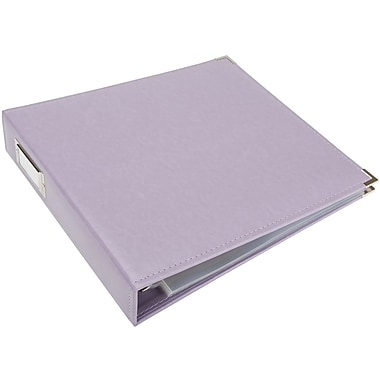 We R Memory Keepers We R Faux Leather 3-Ring Binder, 12in. x 12in., Lilac
