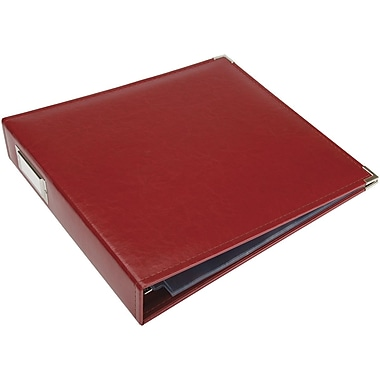 We R Memory Keepers We R Faux Leather 3-Ring Binder, 12in. x 12in., Wine